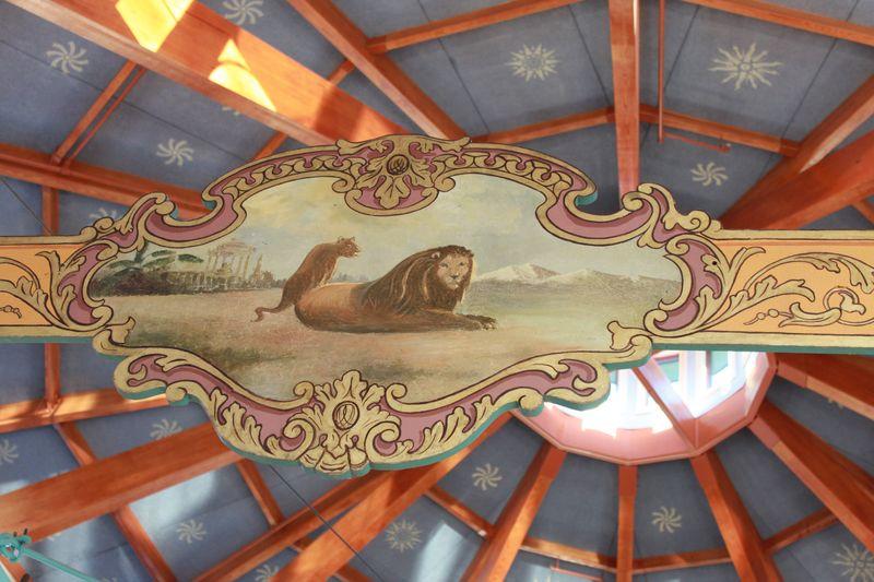 C top of carousel